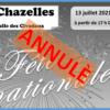 Read more about the article Annulation de la soirée du 13 juillet.